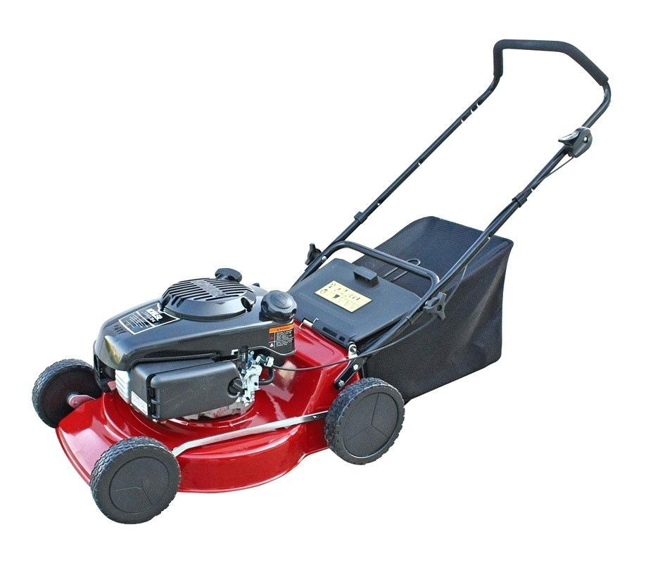 petrol powered lawn mower