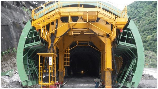 tunnel formwork components